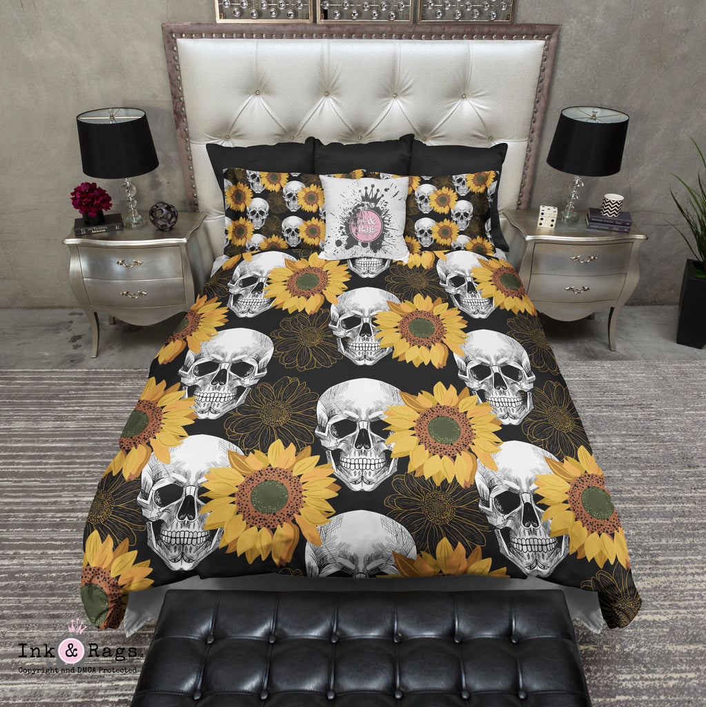 Sunflower Skull Bedding Collection
