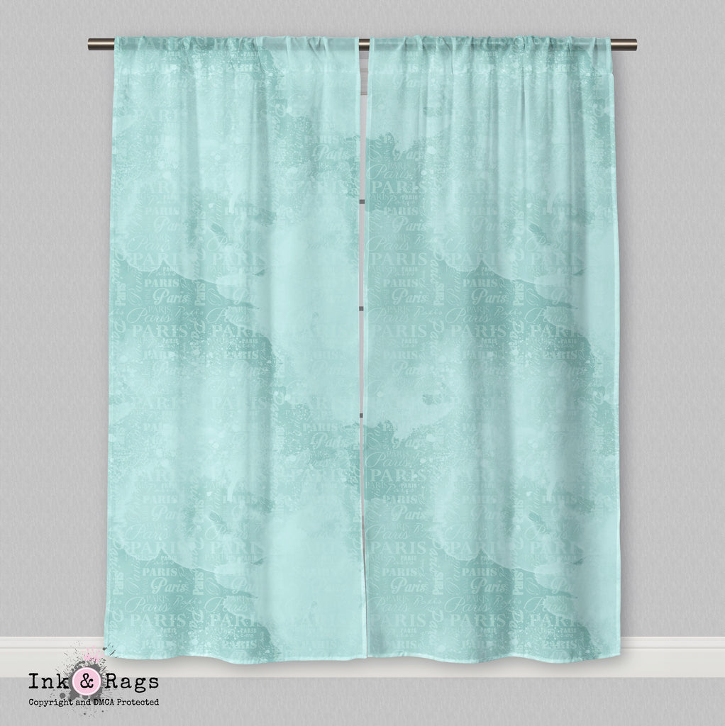 Paris Blue Shopping Spree Curtains