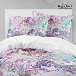 Bohemian Unicorn Dreams Mandala and Flower Big Kids Bedding