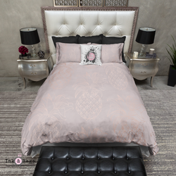 Blush Pink and Rose Gold Pineapple Bedding