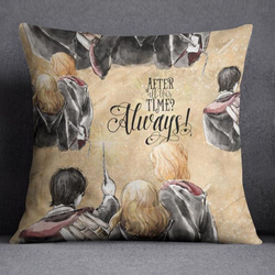 After all this Time Always HP Inspired Decorative Throw Pillow Cover