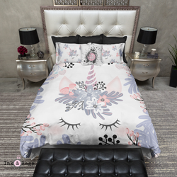 Blushing Unicorn Faces Bedding