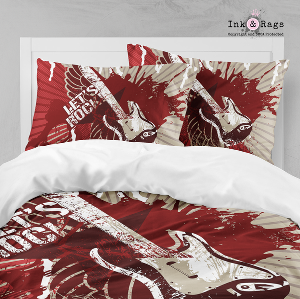 Rock n' Roll Let's Rock Big Kids Bedding