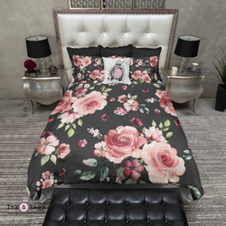 Dark Pink Rose Bedding