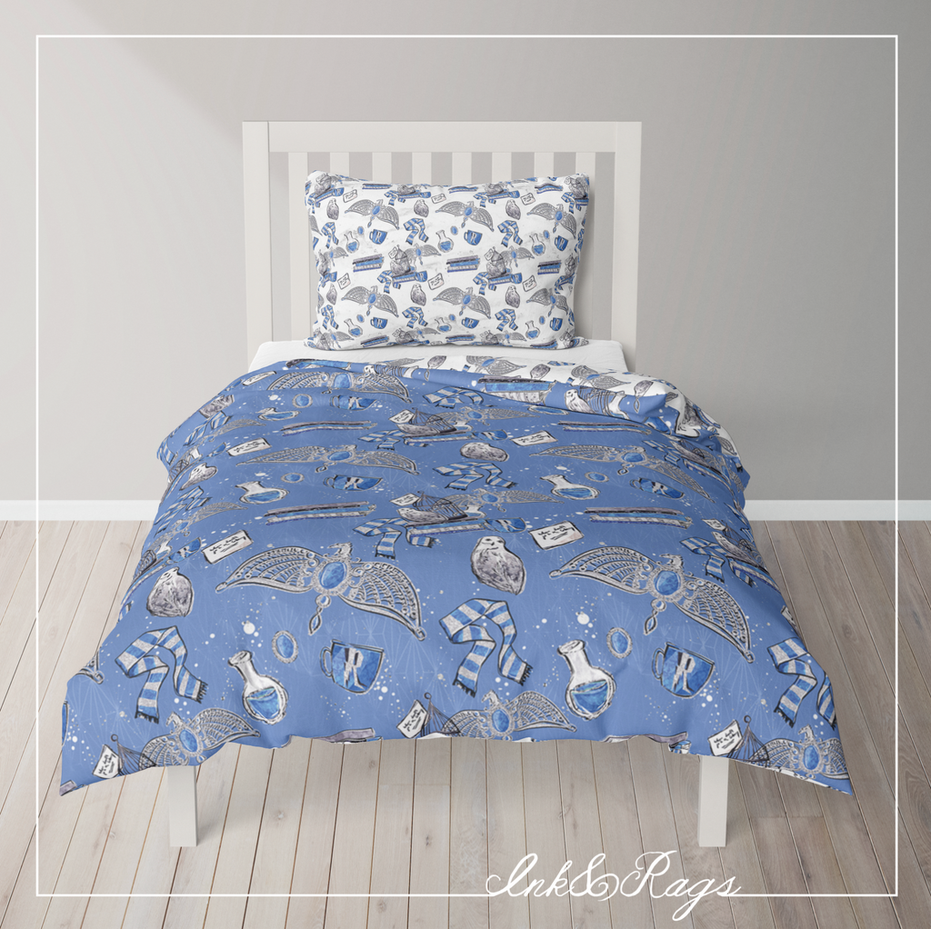 IN STOCK SAMPLE House of Ravenclaw REVERSIBLE - 3 Piece Twin Duvet Cover Set
