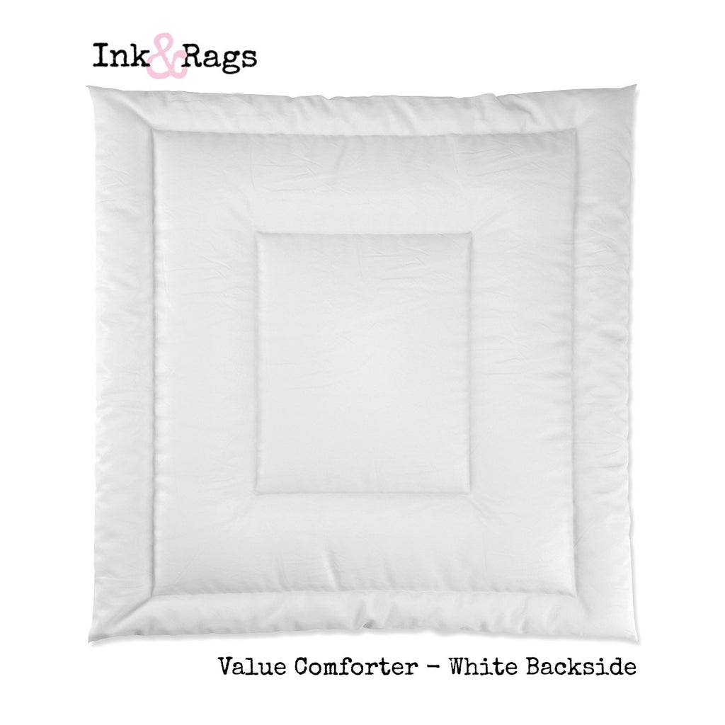Rockabilly Heart Anchor Rose on BLACK Bedding Collection