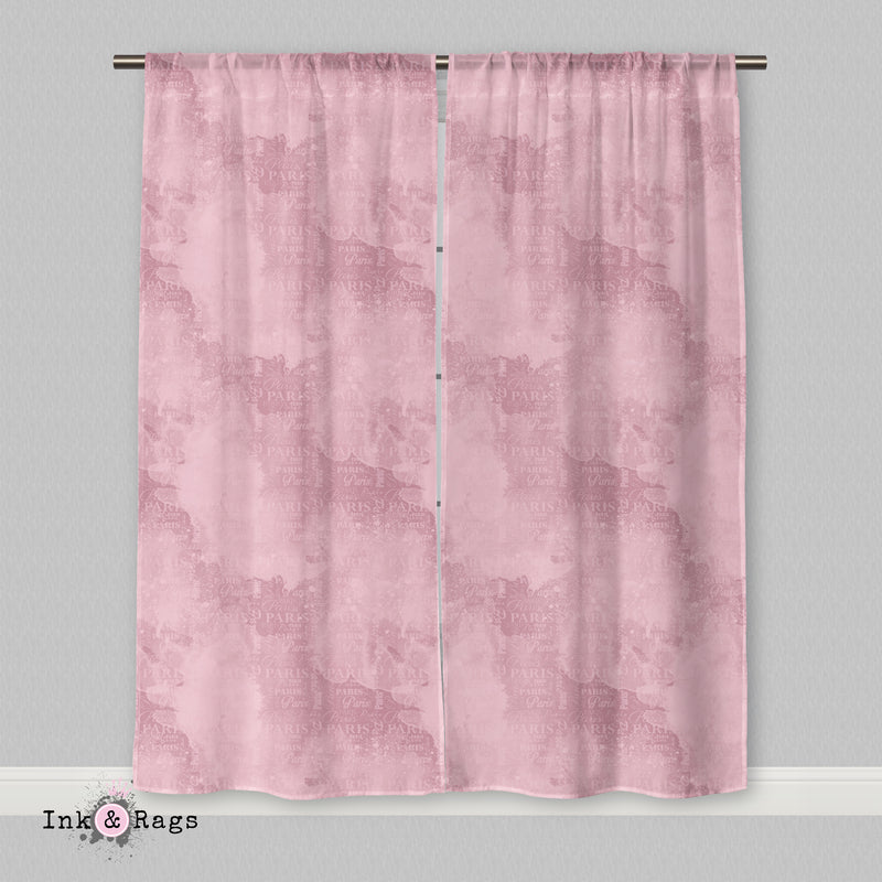 Paris Pink Shopping Spree Curtains