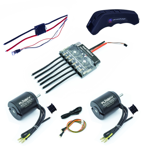 Group D10 Electric Skateboard Kit (Includes Dual FSESC6.6 Big Size and BLDC 6374 Motors) (4273868505223)