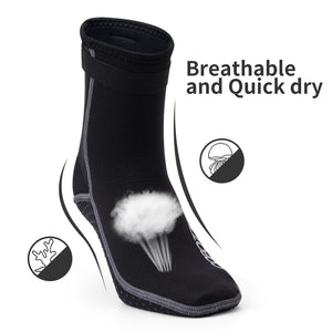 Copozz 3mm Neoprene Diving Socks Boots Water Shoes Anti Slip Beach Warm Wetsuit Shoes Snorkel Surfing Swim Socks for Men Women