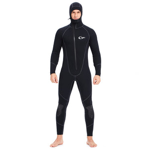Wetsuit 5mm / 3mm / 1.5mm / 7mm Scuba Diving Suit Men Neoprene Underwater hunting Surfing Front Zipper Spearfishing Suit