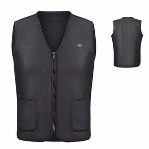 Men Women Outdoor USB Infrared Heating Vest Jacket Winter Flexible Electric Thermal Clothing Waistcoat Fishing Hiking