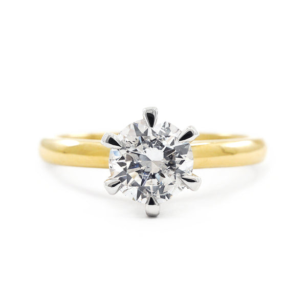 Yellow Gold Round Brilliant Solitaire