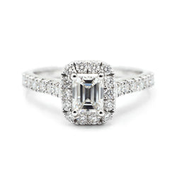 Emerald Cut Halo