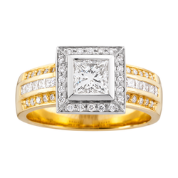 Princess Cut with Diamond Band
