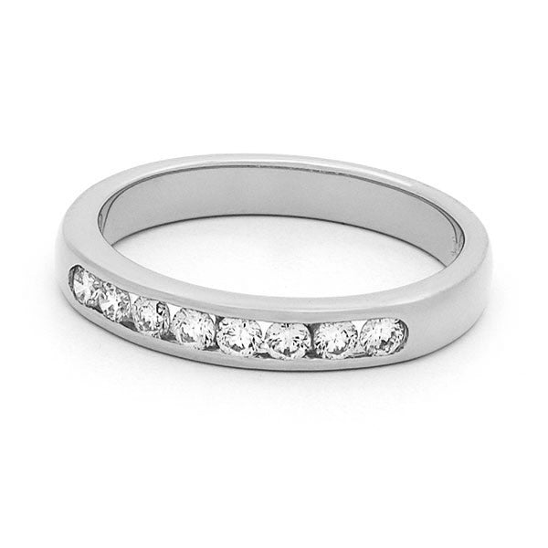 Channel Set Round Brilliant Diamond Band