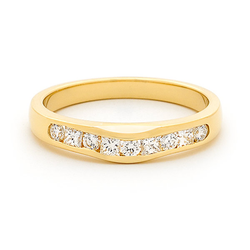 Channel Set Brilliant and Princess Cut Diamond Band