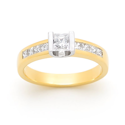 Princess Cut with Channel Set Band
