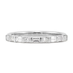 Baguette & Princess Cut Diamond Band
