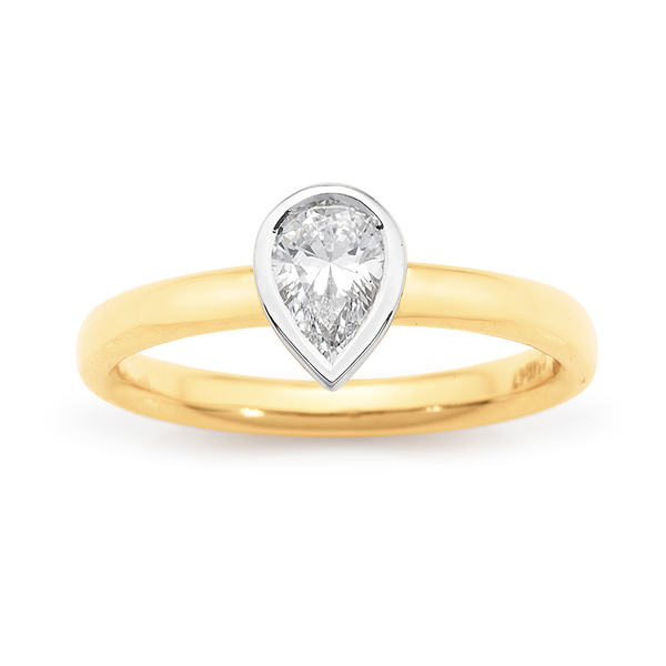Pear Cut Diamond Solitaire