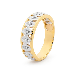 Diamond Set Two Tone Ring