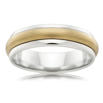 9ct Two-Tone Gold Wedder