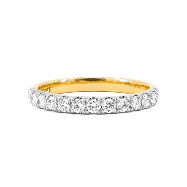 Two-Tone Gold Claw-Set Diamond Band - 0.39ct