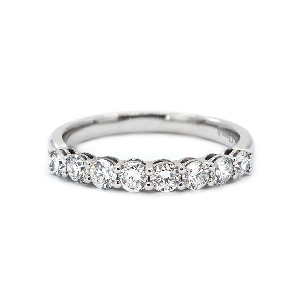 Scalloped Shared Claw Half-Set Diamond Band - 0.58ct