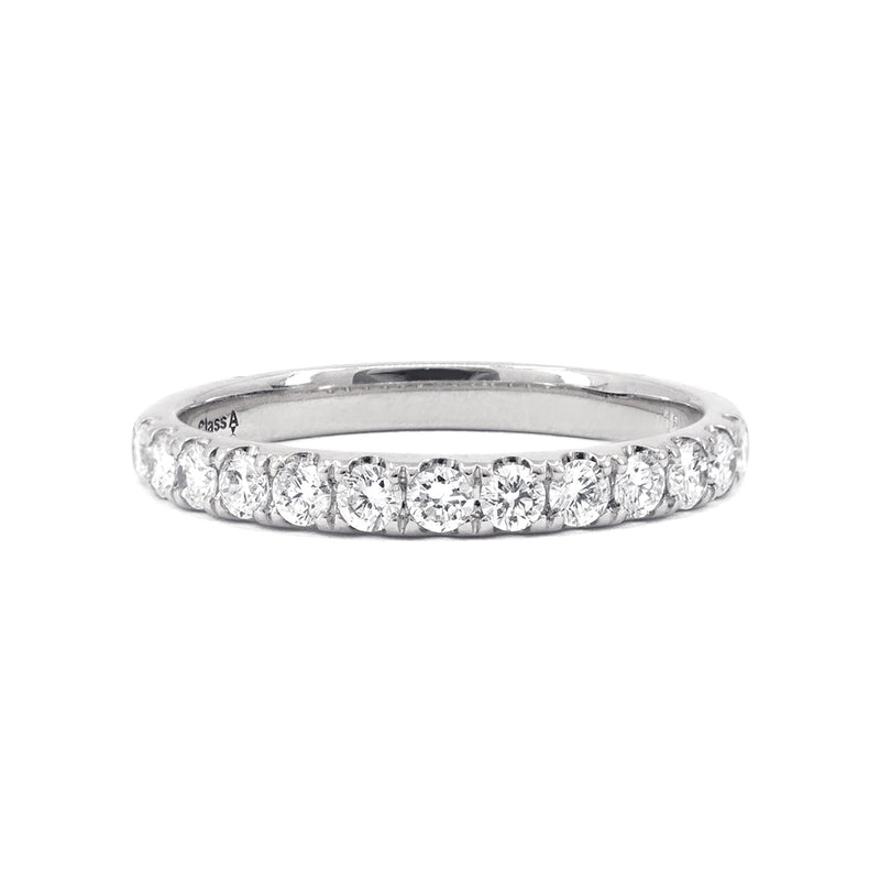 White Gold Claw-Set Diamond Band - 0.39ct