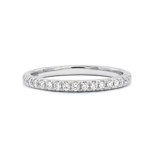 White Gold Claw-Set Diamond Band - 0.17ct