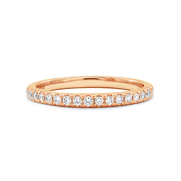 Rose Gold Claw-Set Diamond Band - 0.17ct