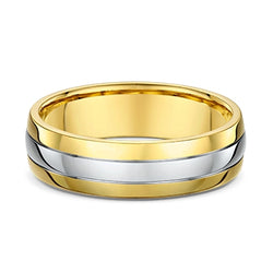 Two-Tone Gold Wedding Band
