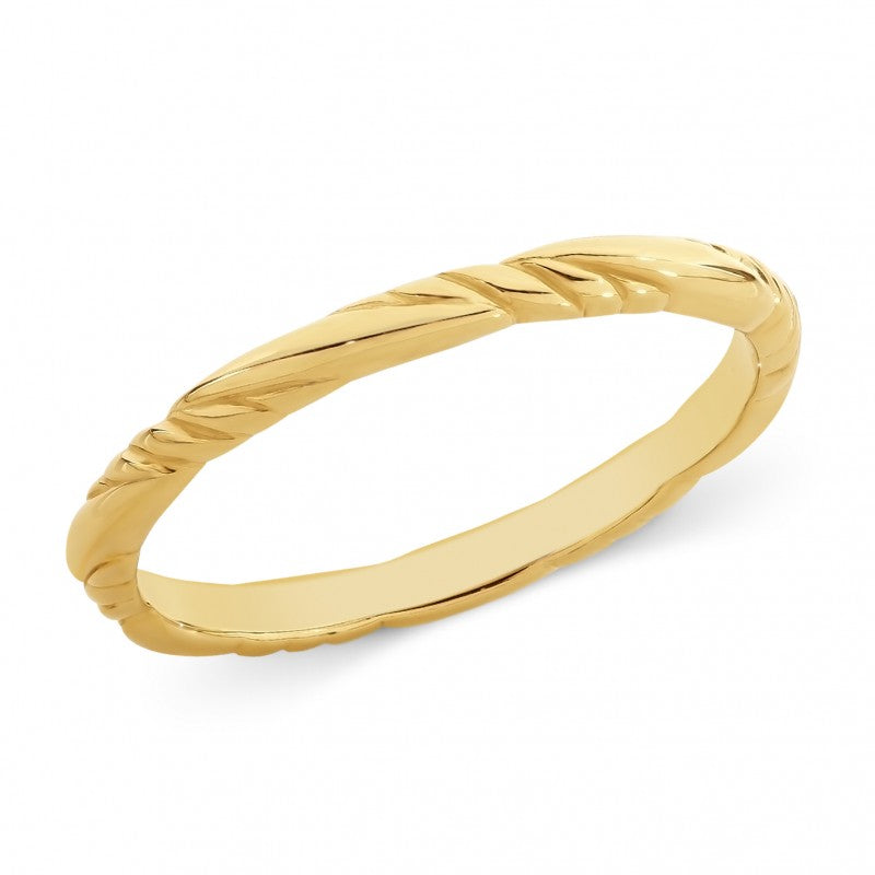 9ct Yellow Gold Twisted Band