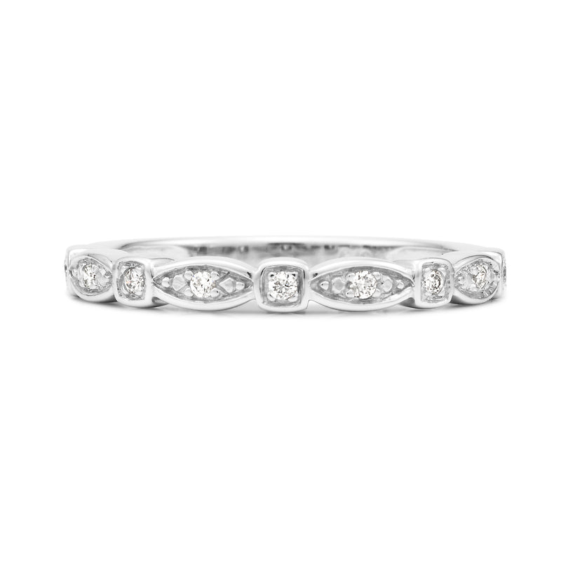Bead Set Diamond Band