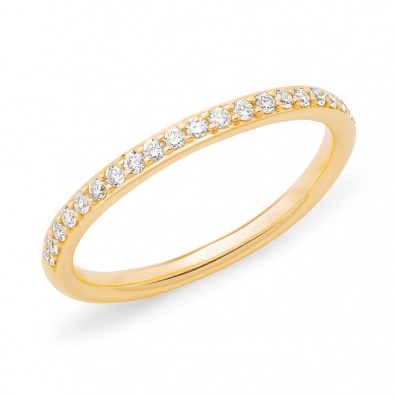 9ct Yellow Gold Fine Diamond Band