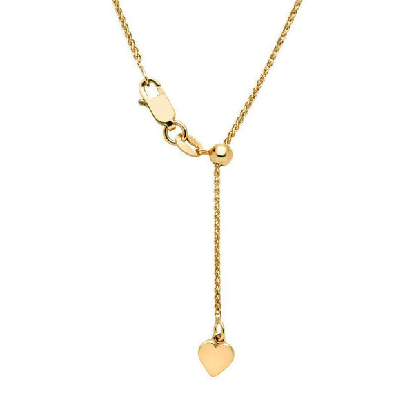 9ct Yellow Gold Adjustable Foxtail Chain - 47cm