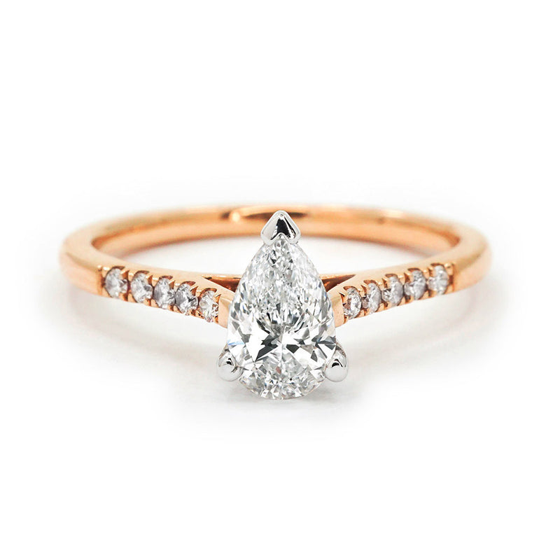 Pear Diamond with Rose Gold Band