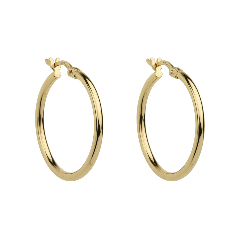 Najo Simple Hoop Earring - 2x25mm (Yellow)