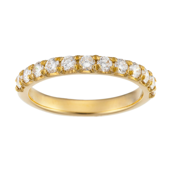 Yellow Gold Claw-Set Diamond Band