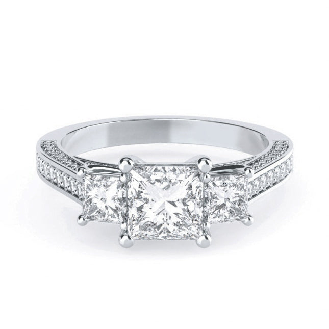 Princess Cut Three Stone