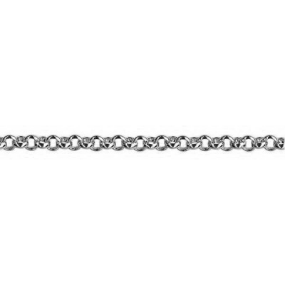 9ct White Gold Belcher Chain (B2) - 50cm
