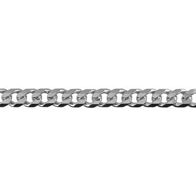 Sterling Silver Bevelled Curb Diamond Cut Chain (BCD150)