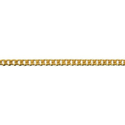 9ct Yellow Gold Bevelled Diamond Cut Curb Chain (BCD80)