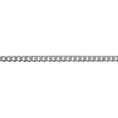 Sterling Silver Bevelled Curb Diamond Cut Chain (BCD80)