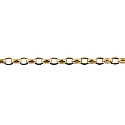 9ct Yellow Gold Oval Belcher Chain (BO2) - 50cm
