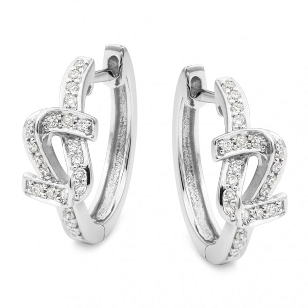 9ct Fancy Diamond Huggie Earrings