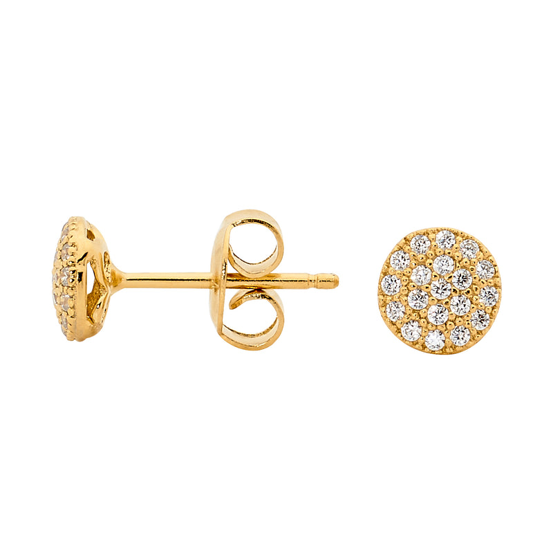 Georgini Petite Circle Gold Stud Earrings