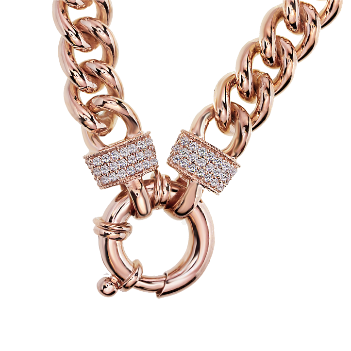 Rose Gold Silver Filled Bracelet with Stone Cuffs