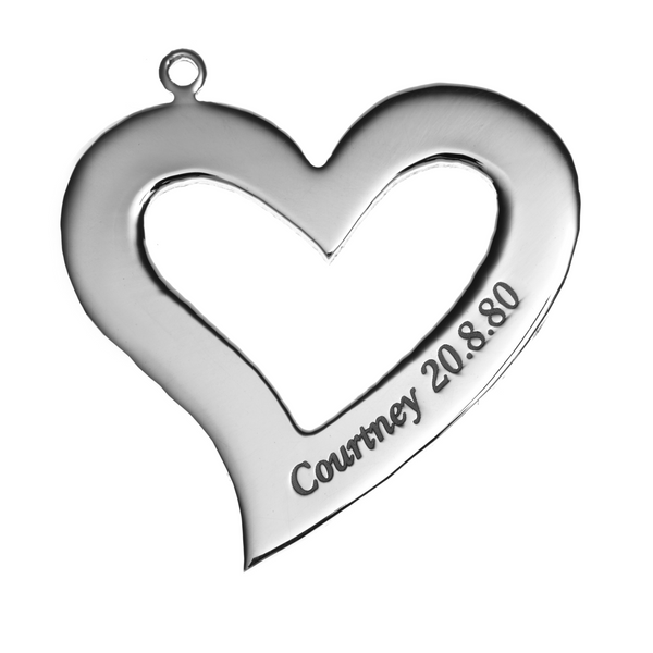 Personalised Heart Pendant - Large