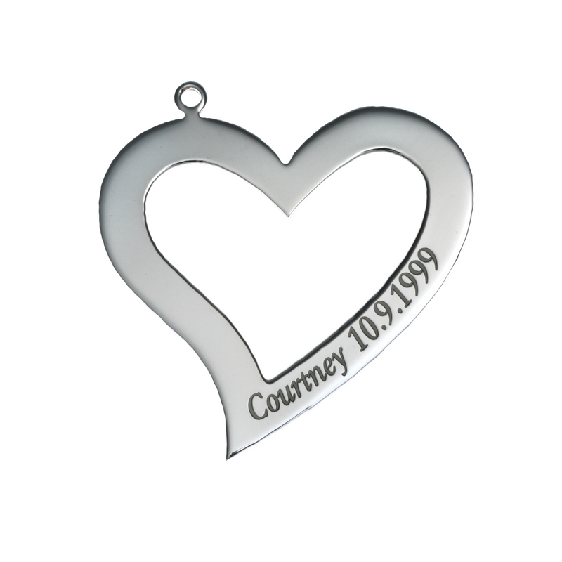 Personalised Heart Pendant - Small
