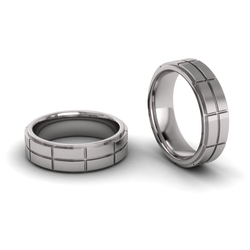 Flat Double Row Brick Ring